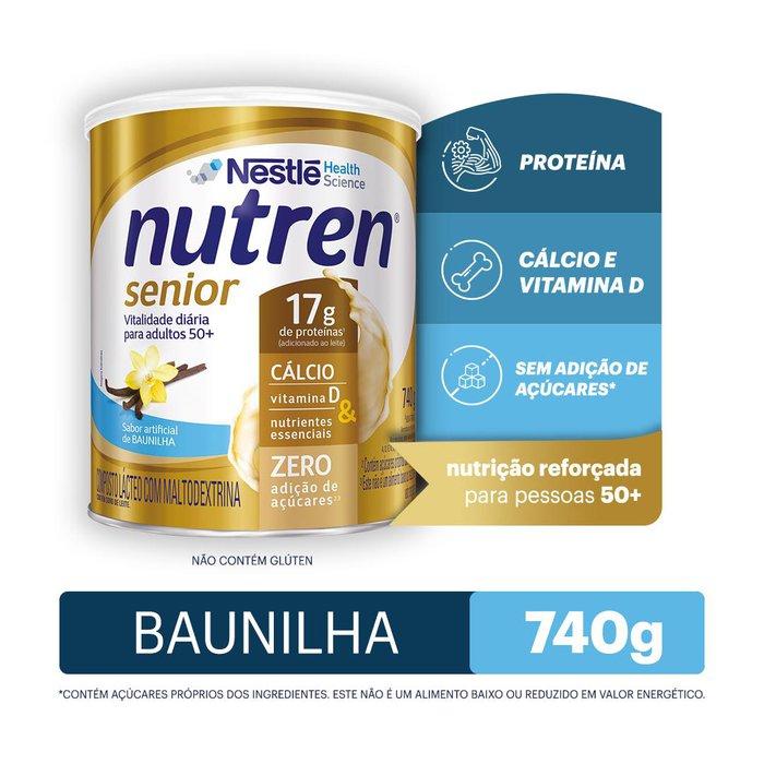 nutren senior baunilha 740g
