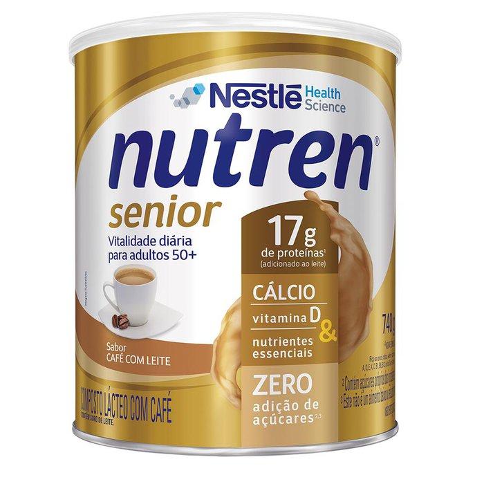 nutren senior cafe com leite 740g